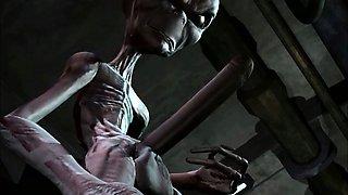 3D Animation. Alien Abduction