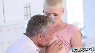 Dad fucks chum's daughter in bathroom and daddy wants to pla