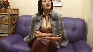 Exotic Japanese whore in Amazing 69, Threesomes JAV clip