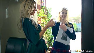 Courtney Taylor and Charlotte Stokely hook up for a nasty lesbian game