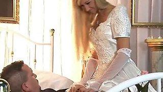 Bride fucks best man in a hotel