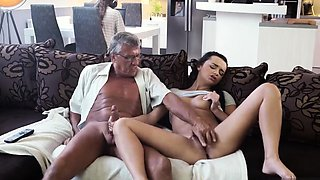 Family strokes dad and companion' associate's daughter xxx W