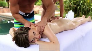 HD  - Tali Dova  Ariana Marie hot fuck session by the pool