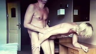 polish wife with boss in hotel