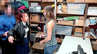 Asian teenie and her hot MILF mom gets punish fucked