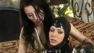 2 rubber lesbian babes have enjoyment