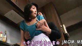 Captivating mature idol Kyoko Takashima gets packing monster