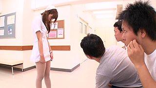 japanese nurse needs to see them cum hard