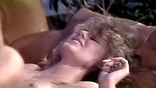 Vintage blonde enjoys rubbing her pussy all over boner