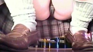 Innocent girls up-skirt panties