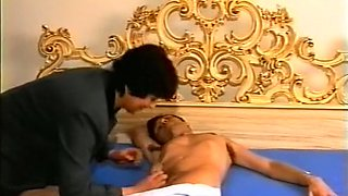 Sexy and hot lascivious bitches on the bed playing with each other