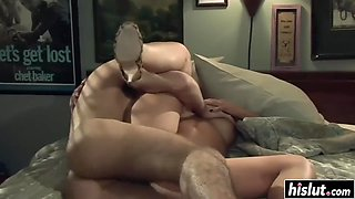 busty babe gets fucked in her bedroom