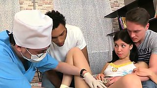 Fella assists with hymen checkup and riding of virgin chick4