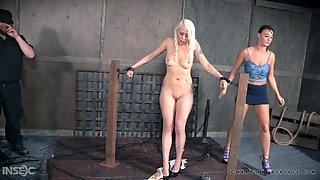 helpless blonde milf getting punished real hard