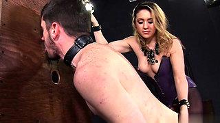 Hot pornstar femdom with cumshot