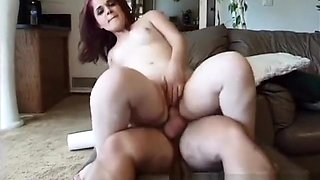 Luscious redhead midget delivers a nice blowjob and gets drilled deep