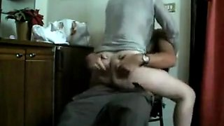 Quickie fucking on the chair