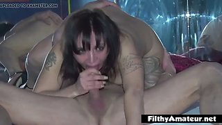 My wife at club prive! glory hole, dp and swallowing!