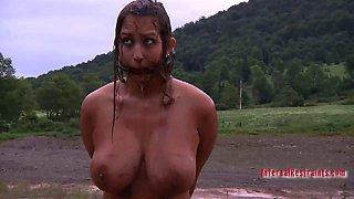 Big breasted slave gets brutally punished by her master