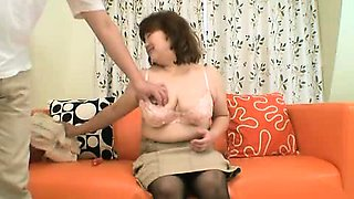 Hairy Mature asian getting fucked