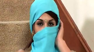 Beautiful Indian girl Abhilasha blows strong white dong