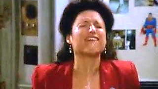Promiscuous Whore Elaine Benes Mouth-Foaming With Dirty Cum!
