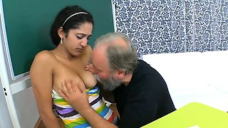 Darling is seduced by an old and concupiscent teacher