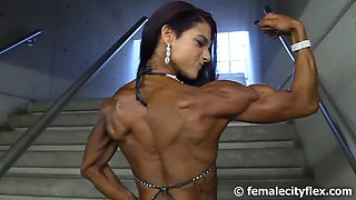 Fitness posing very beautiful
