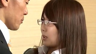 Crazy Japanese model in Incredible Hairy, Office JAV video