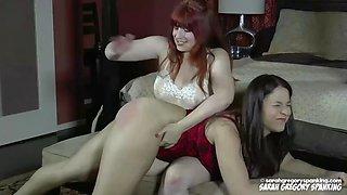 Amber spank sarah&#39s big ass