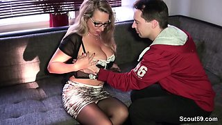 German MILF seduce Stranger Boy to Fuck from Scout69
