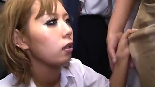 jap girl groped and fucked in bus