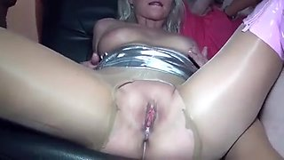 German blondes in nylons gangbang
