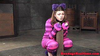 Toyed bigbooty slave getting humiliated