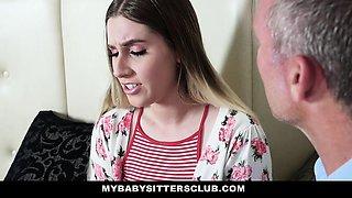MyBabySittersClub - Sexy Blonde Sitter Fucks Older Boss