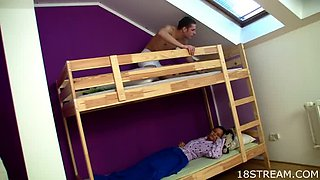Hardcore Hostel Fuck For Young Couple
