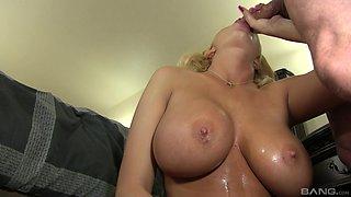 Curvy blonde babe Summer Brielle fucked by a stallion