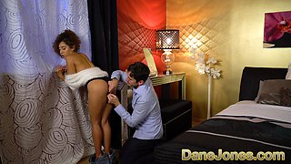 Dane Jones Mexican hottie Melody Petite makes sweet passionate love