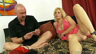 Stacked blond MILF Charlee Chase gets doggy fucked rough