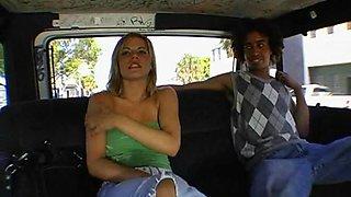 Chick Takes Huge Hose In Van