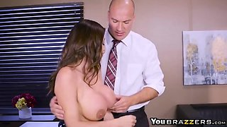 Hot big boobs CEO Ariella Ferrera needs fucks