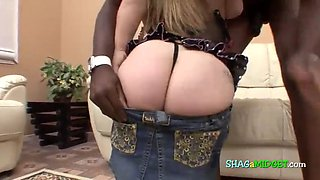 Black guy fucks a horny midget bitch