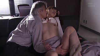 Jun gets seduced by her boss and slammed right in her pussy