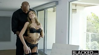 Shawna Lenee fucks big black cock in perfect lingerie