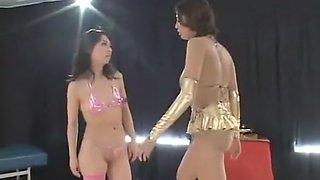 Japanese lesbians wrestling 2