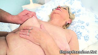 Old grandma in glasses