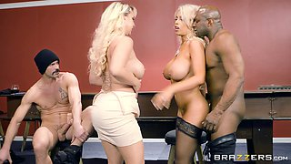 Two busty wives Bridgette B and Nina Kayy swapping husbands