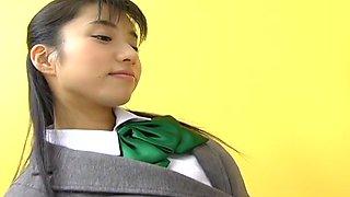 Momo Jyuna is a Horny Schoolgirl
